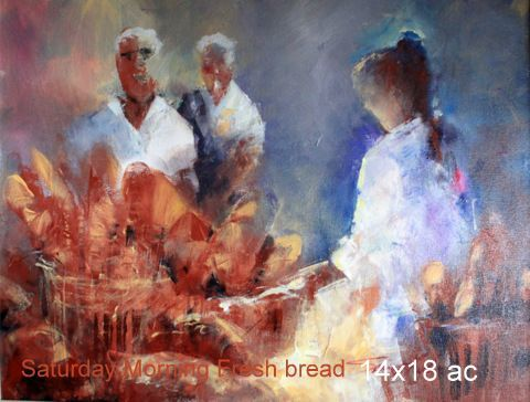 Saturday Morning Fresh Bread 14×18 ac
