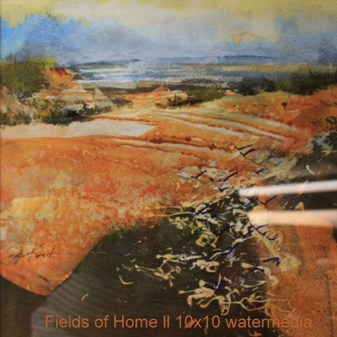 Fields of Home 10×10 watermedia