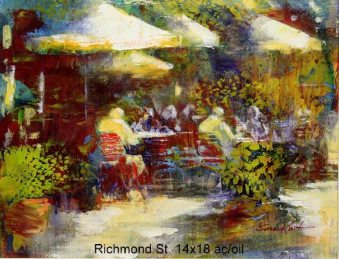 Richmond St 14x18 ac/oil