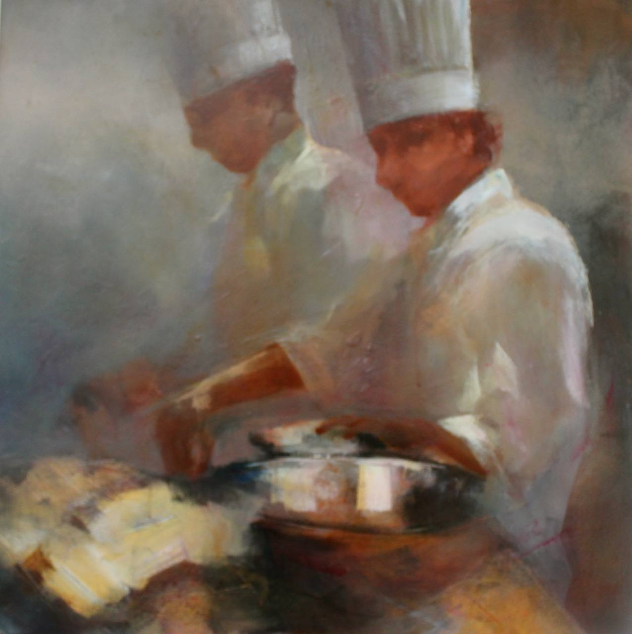 Chef Series IV 24×24 oil $1500