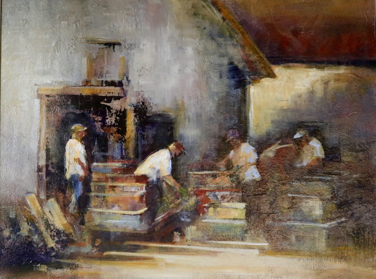 View Larger Image - Hard at Work  ac/oil 18×24