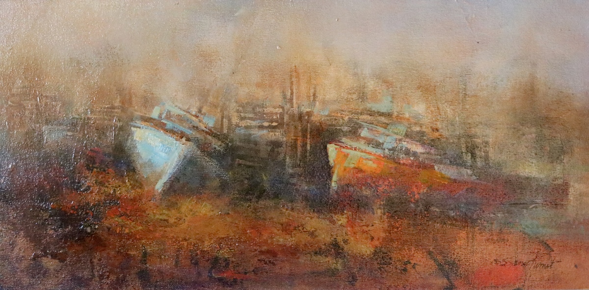 View Larger Image - Ships Graveyard ac/oil 12×24  SOLD
