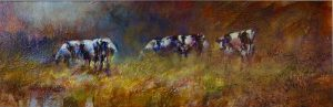 Contented Cows ac/oil 8x24