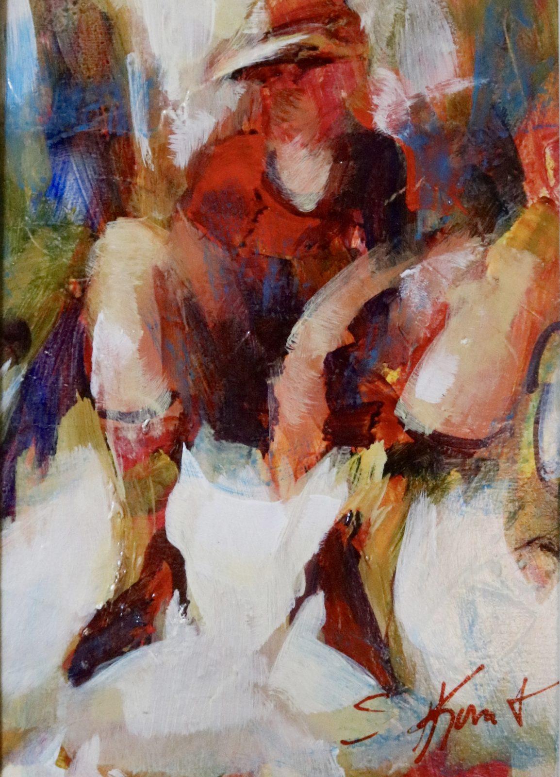 First Heels acrylic 7×5