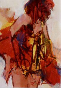 Merry Widow acrylic 7x5